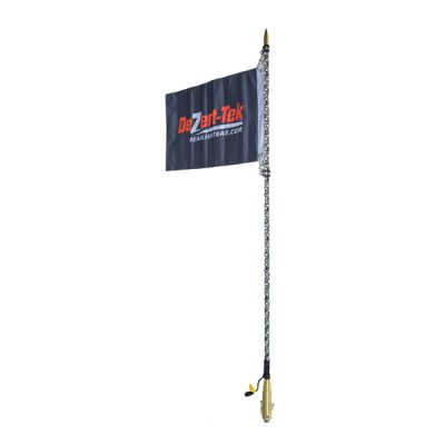 6' Single Bluetooth Ballistic LED Whip (Gold)