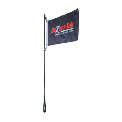 4' Single Ballistic Day Whip (Black) (Non-LED)