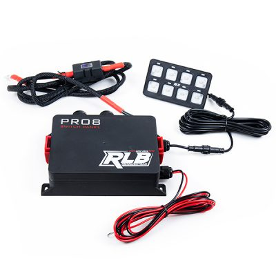 Pro8 Switch Panel - 8 Gang Switch Waterproof and Weather-Sealed Switch Panel